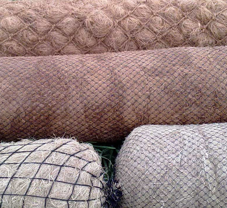 Biologs, organic mattresses y flexible gabions