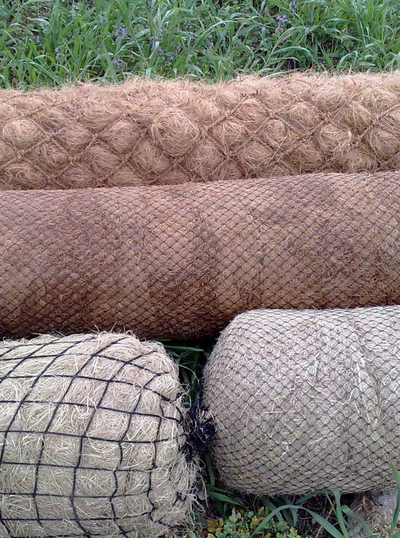 Biologs, organic mattresses y flexible gabions
