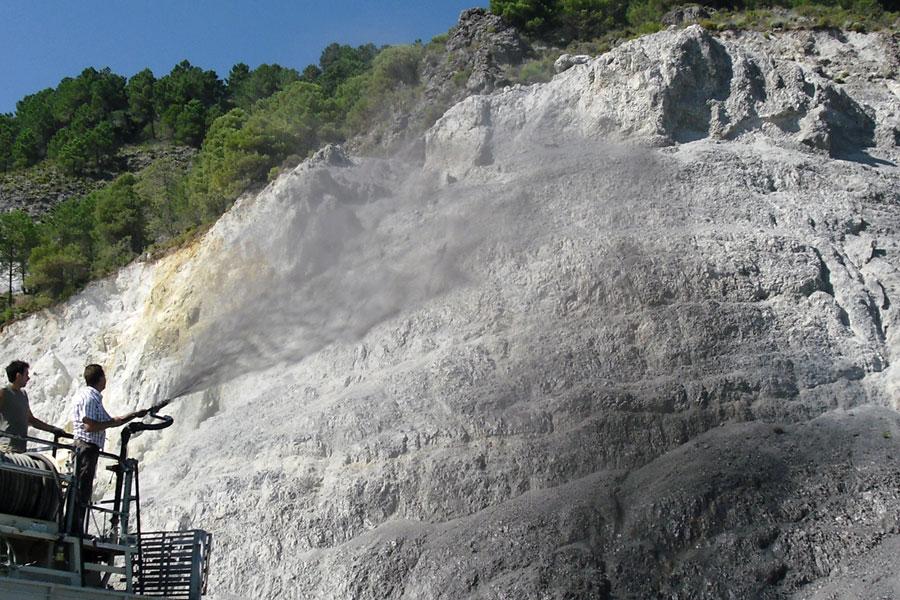 Envejecedores naturales de rocas