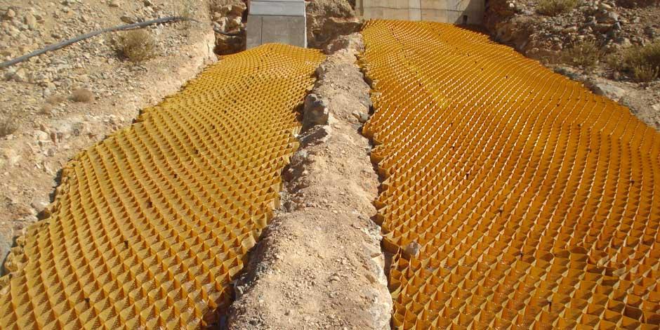 Geoceldas para establecer vegetación