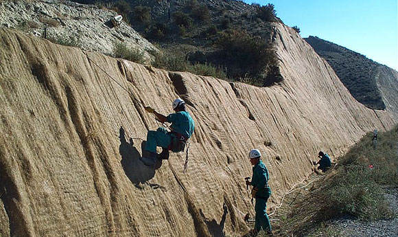 Organic blankets for use in Erosion Control