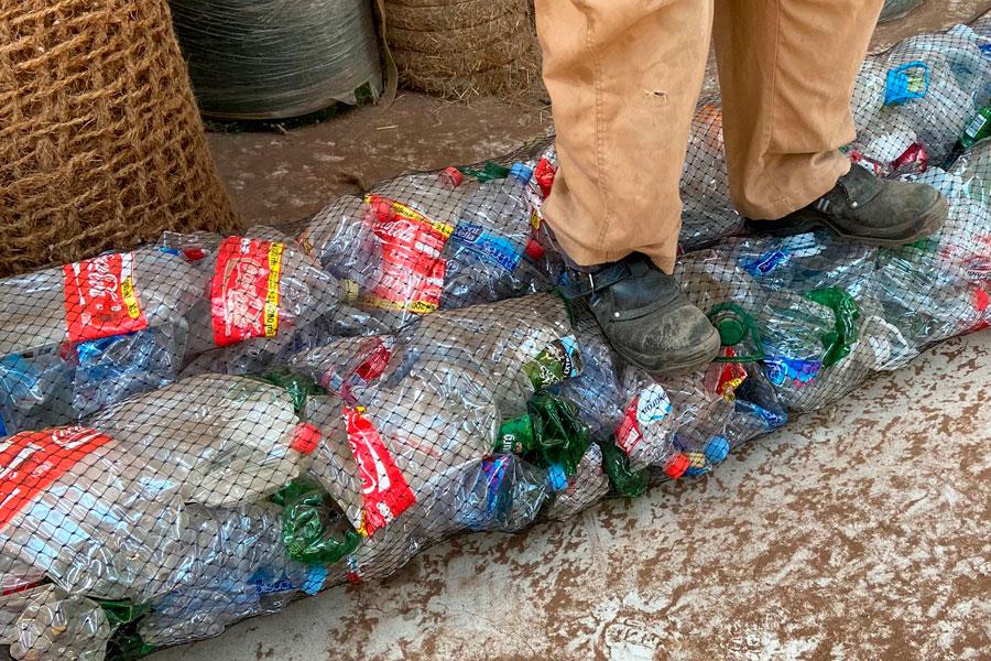 Rollos de drenaje con materiales reciclados